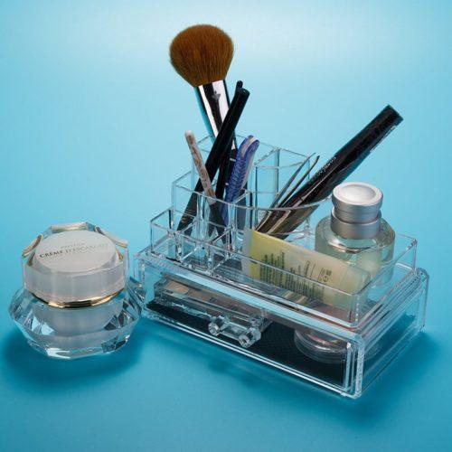 Cosmetic Organizer With Jewelry Box (With Nice Shape)