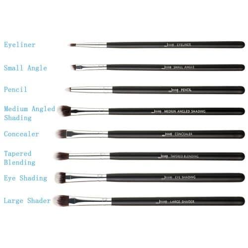 Jessup Essential Eye Brushes Set Black Silver T088