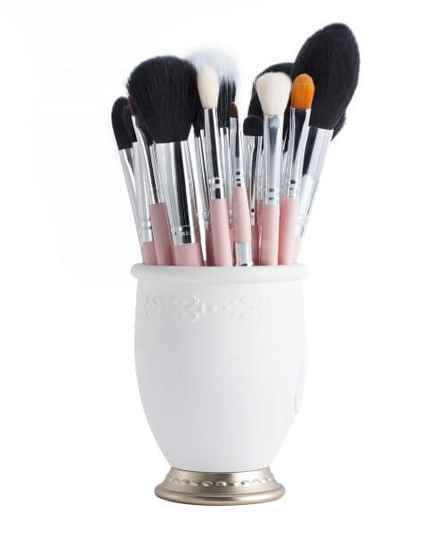 Jessup Essential Brushes Set Pink Silver T094