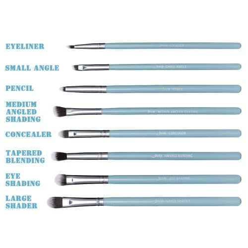 Jessup Essential Eye Brushes Set Blue Silver T097