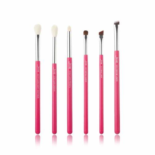 Jessup Individual Brushes Set Rose Carmine Silver T201