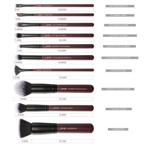 Jessup Plum Queen Brush Set T259