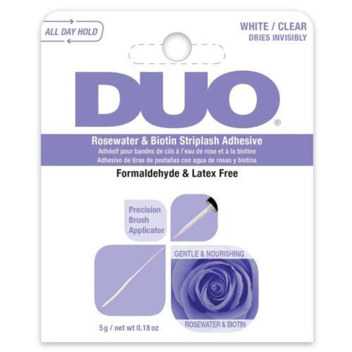 DUO, Rosewater & Biotin Striplash Adhesive, White/Clear